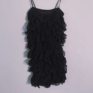 B.Darlin black cocktail ruffle dress in small